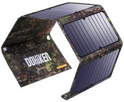 Comprar Dohiker Cargador Solar portátil y Plegable 27W con 3 Puertos USB al Aire Libre Emergencia de Campo de Viaje para Carga Multifuncional