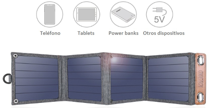 Comprar CHOETECH Cargador Solar, 14W Panel Solar Cargador Portátil