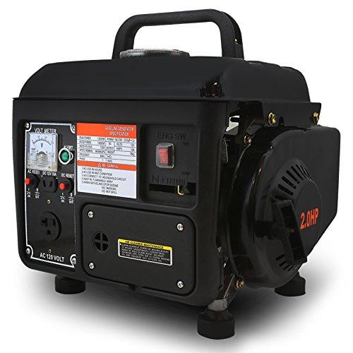 XtremepowerUS Generador de energía eléctrica a gas, portátil, 2 tiempos, 1200 vatios