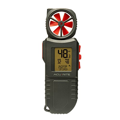 AcuRite 00256M Portable Anemometer with Inspection Light