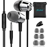 Blukar Auriculares In Ear, Auriculares con Cable y Micrfono Headphone Sonido Estreo para Samsung...