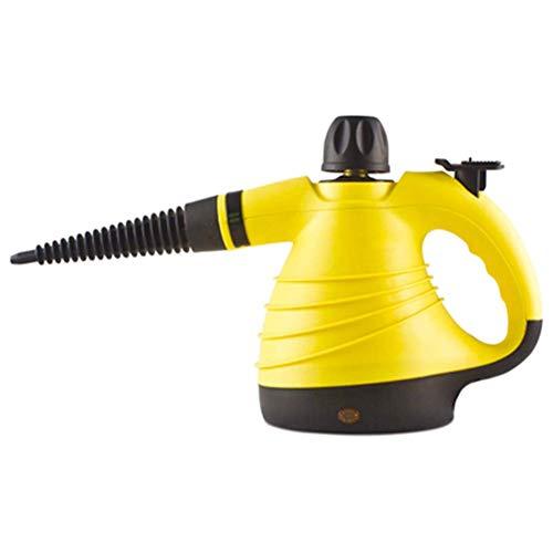Limpiador a Vapor de Mano, 1050W Upgrade Limpiadora a Multiusos Alta presión y Alta Temperatura, 9-Piezas para la eliminación de Manchas, alfombras, Cortinas, Asientos de Coche