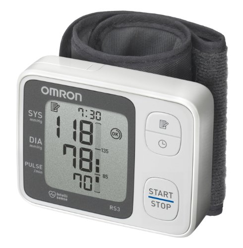 OMRON RS3 - Tensiómetro de muñeca, detección de movimiento corporal y de pulso arrítmico